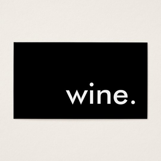 wine. business card