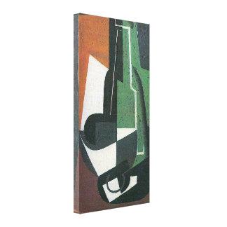 Wine Carafe Bottle by Juan Gris, Vintage Cubism Gallery Wrap Canvas