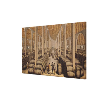 Wine Cellar at Jerez de la Frontera Canvas Print