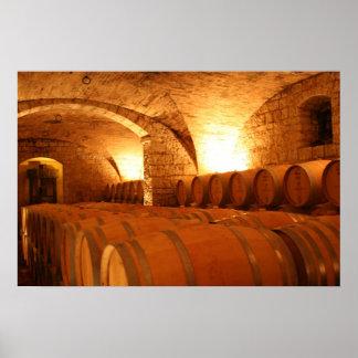Wine Cellar Barrells Posters