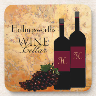 Wine Cellar Personalized Coaster