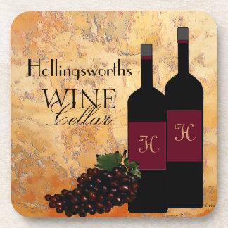 Wine Cellar Personalized Coaster