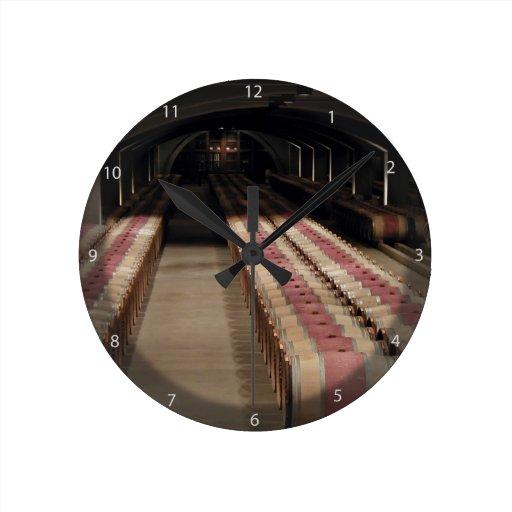 Wine cellars round wall clocks