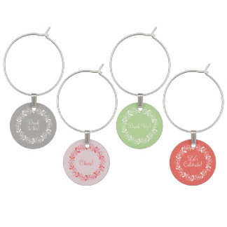 Wine charms with a wreath design