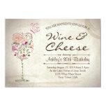 Wine & Cheese Birthday Invitation