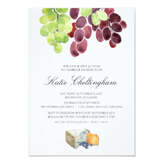 Wine & Cheese Bridal Shower Invitation 5x7