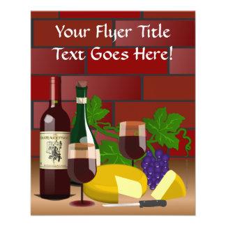 Wine Cheese Table Scene 11.5 Cm X 14 Cm Flyer