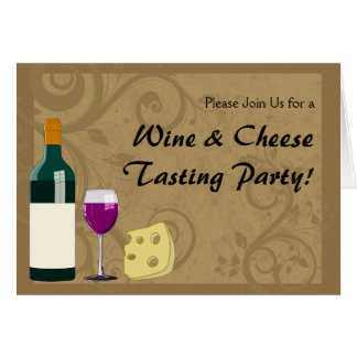 Wine Cheese Tasting Party Invitation Cards