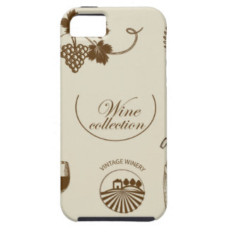 Wine Collection Tough iPhone 5 Case