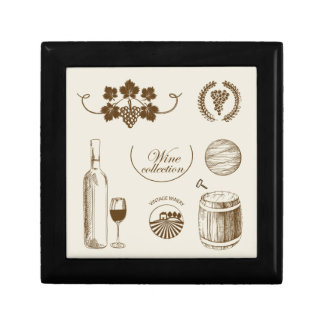 Wine Collection Small Square Gift Box