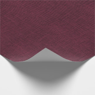 Wine Colored Burlap Texture Wrapping Paper