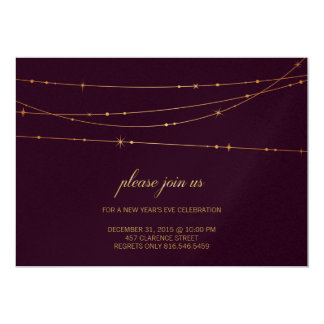 Wine Colour Birthday/New Year Party Invitation