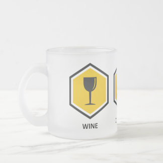 Wine Computer Genealogy Frosted Glass Mug