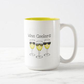 WINE COOLERS WHITE WINE GLASSES PRINT Two-Tone MUG