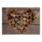 Wine Cork #2 Rustic Wedding Invitation