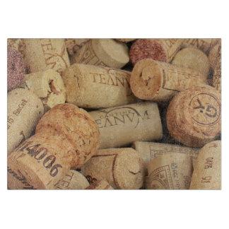 Wine cork cutting board
