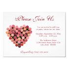 Wine Cork Heart Invitations