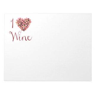 Wine Cork Heart Notepad