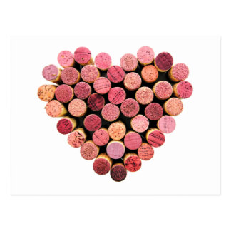 Wine Cork Heart Postcard