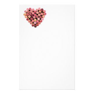Wine Cork Heart Stationery