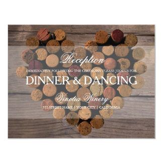 Wine Cork Rustic Reception Card