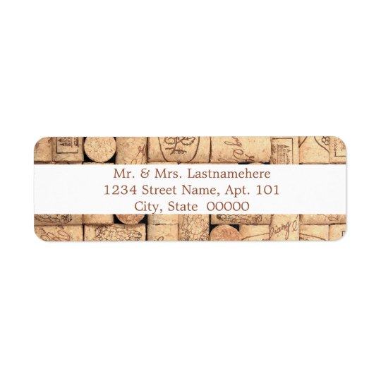 Wine Corks Address Labels