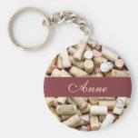 Wine Corks Custom Keychain