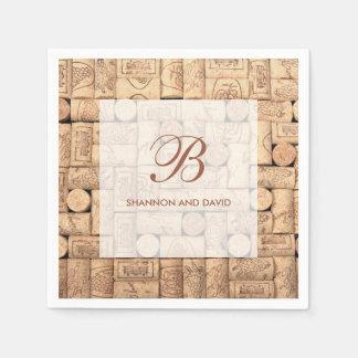 Wine Corks Custom Napkins Paper Napkins