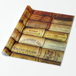 Wine Corks Galore Wrapping Paper