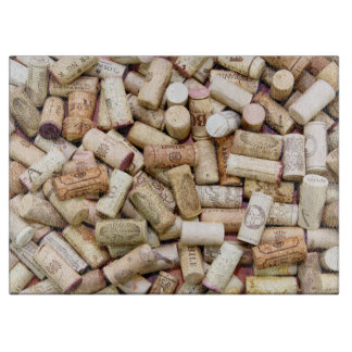 Wine Corks Glass Cutting Board