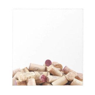 Wine Corks Notepad