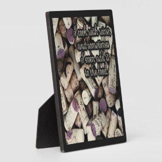 Wine Corks Quote plaque