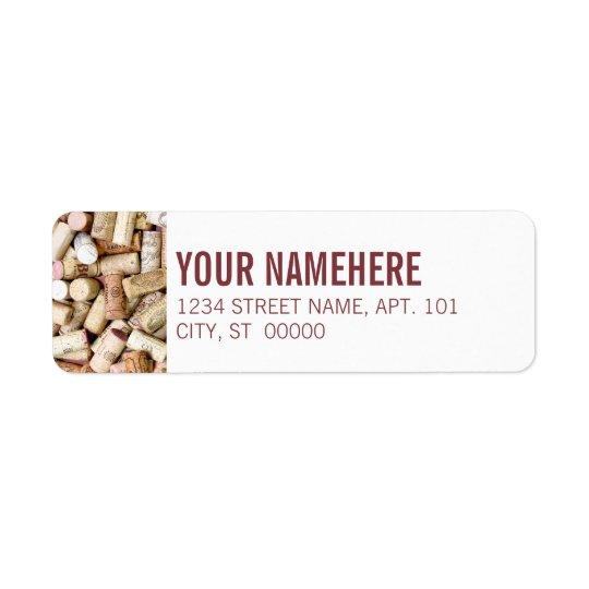Wine Corks Return Address Label