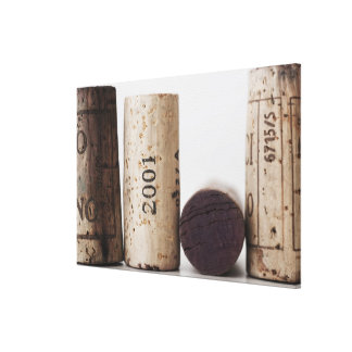 Wine corks with dates canvas print