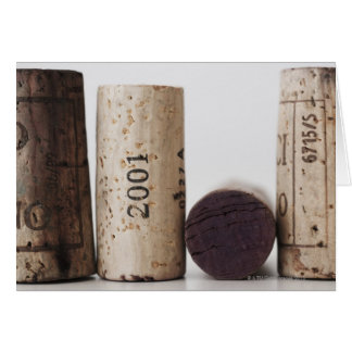 Wine corks with dates card