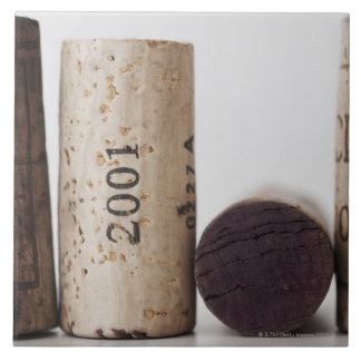 Wine corks with dates tile