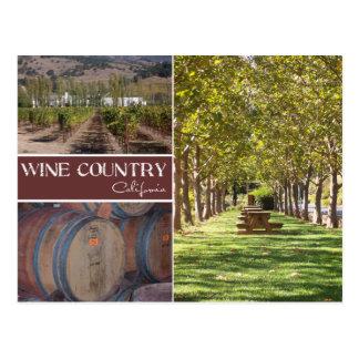 Wine Country, California Postcard