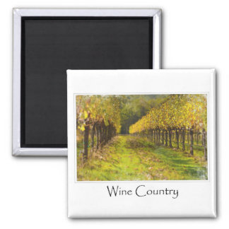 Wine Country  - Vineyard in Autumn Magnet