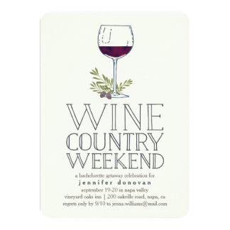 Wine Country Weekend Getaway Card