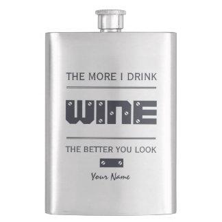 WINE custom monogram flask