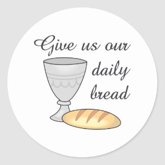 WINE DAILY BREAD ROUND STICKER
