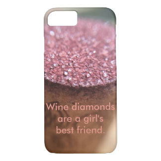 Wine Diamonds (Customizable) Phone Case