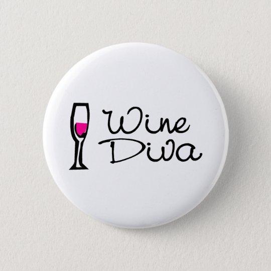 Wine Diva 6 Cm Round Badge