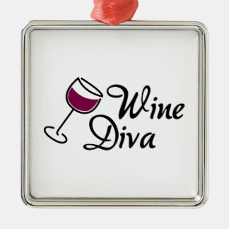 Wine Diva Christmas Ornament