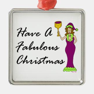 Wine Diva Fabulous Christmas Christmas Ornament