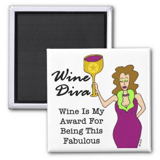 """Wine Diva """"Fabulous"""" Fridge Magnet"""