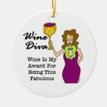 """Wine Diva """"Fabulous"""" Round Ceramic Decoration"""