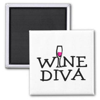 Wine Diva Square Magnet