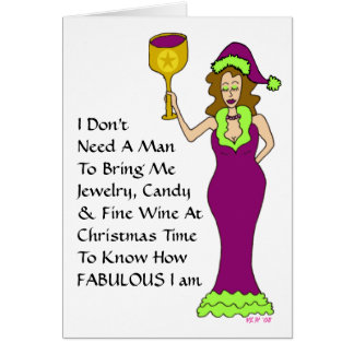 "Wine Diva's ""Just The Wine"" Fabulous Christmas Greeting Card"