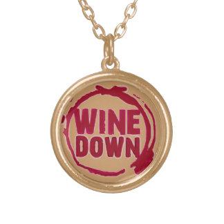 """Wine Down"" Round Pendant Necklace"